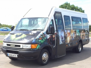 marvel logo 16 seater